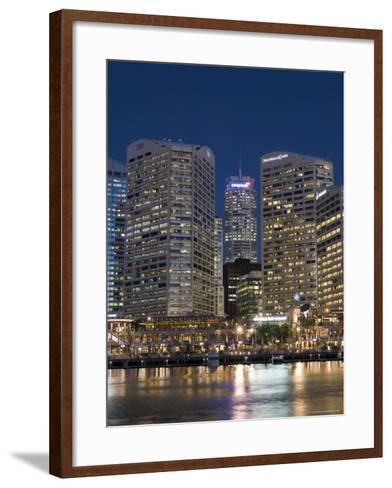 Darling Harbour, Sydney, New South Wales, Australia-Sergio Pitamitz-Framed Art Print