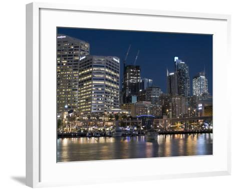Darling Harbour, Sydney, New South Wales, Australia-Sergio Pitamitz-Framed Art Print