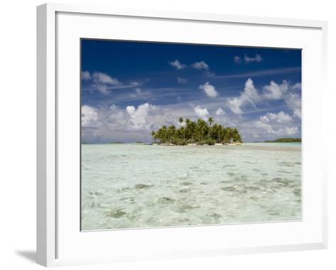 Sharks, Blue Lagoon, Rangiroa, Tuamotu Archipelago, French Polynesia Islands-Sergio Pitamitz-Framed Art Print
