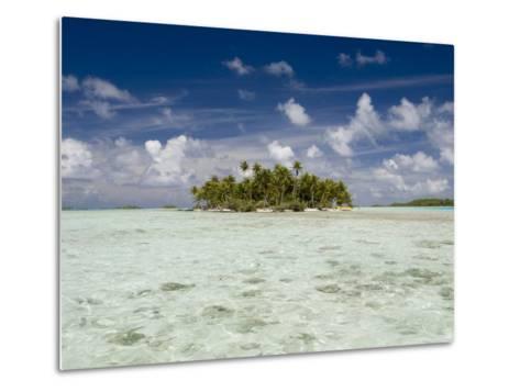 Sharks, Blue Lagoon, Rangiroa, Tuamotu Archipelago, French Polynesia Islands-Sergio Pitamitz-Metal Print