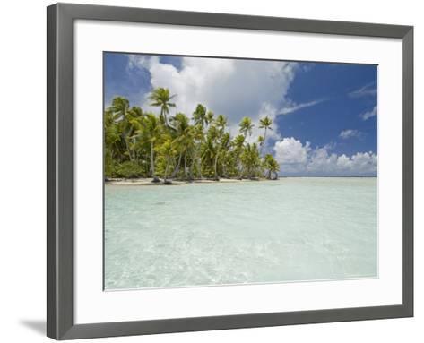 Blue Lagoon, Rangiroa, Tuamotu Archipelago, French Polynesia Islands-Sergio Pitamitz-Framed Art Print