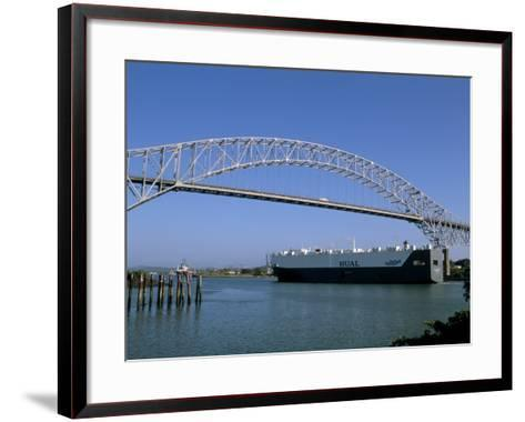 Bridge of the Americas, Panama Canal, Balboa, Panama, Central America-Sergio Pitamitz-Framed Art Print