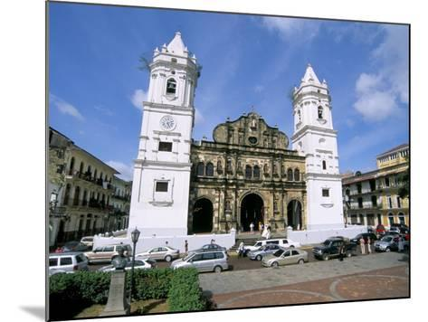 Cathedral in the Old City, San Felipe District, Panama City, Panama, Central America-Sergio Pitamitz-Mounted Photographic Print
