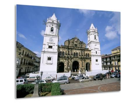 Cathedral in the Old City, San Felipe District, Panama City, Panama, Central America-Sergio Pitamitz-Metal Print