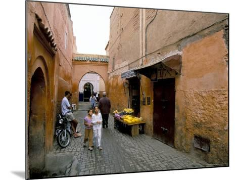 Souk, Marrakech (Marrakesh), Morocco, North Africa, Africa-Sergio Pitamitz-Mounted Photographic Print