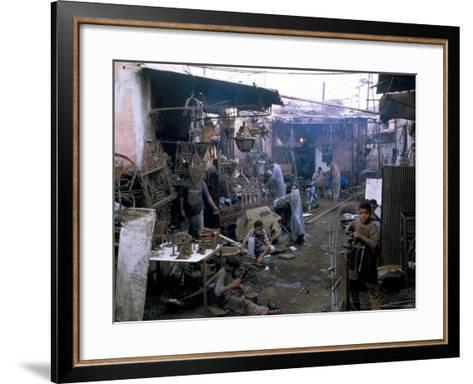 Souk, Marrakech (Marrakesh), Morocco, North Africa, Africa-Sergio Pitamitz-Framed Art Print