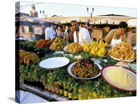 Place Jemaa El Fna, Marrakech (Marrakesh), Morocco, North Africa, Africa-Sergio Pitamitz-Stretched Canvas Print