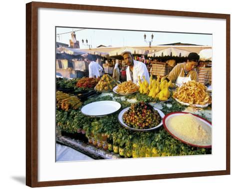 Place Jemaa El Fna, Marrakech (Marrakesh), Morocco, North Africa, Africa-Sergio Pitamitz-Framed Art Print