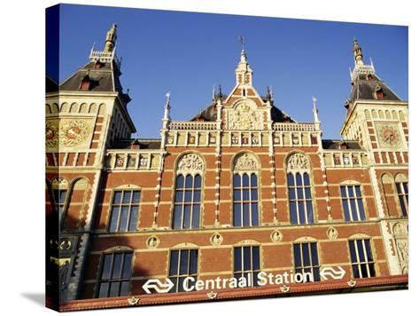 Central Station, Amsterdam, the Netherlands (Holland)-Sergio Pitamitz-Stretched Canvas Print