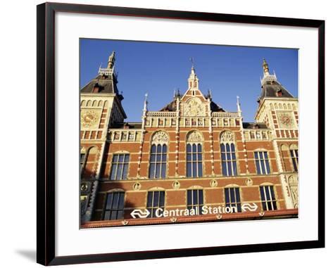 Central Station, Amsterdam, the Netherlands (Holland)-Sergio Pitamitz-Framed Art Print