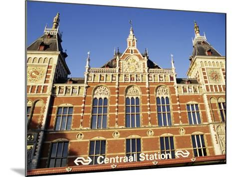 Central Station, Amsterdam, the Netherlands (Holland)-Sergio Pitamitz-Mounted Photographic Print