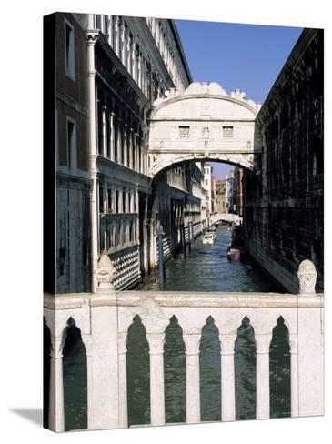 Bridge of Sighs Crossing Rio Del Palazzo, Venice, Veneto, Italy-Sergio Pitamitz-Stretched Canvas Print