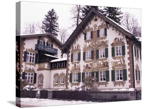 Hansel and Gretel House, Oberammergau, Bavaria, Germany-Sergio Pitamitz-Stretched Canvas Print
