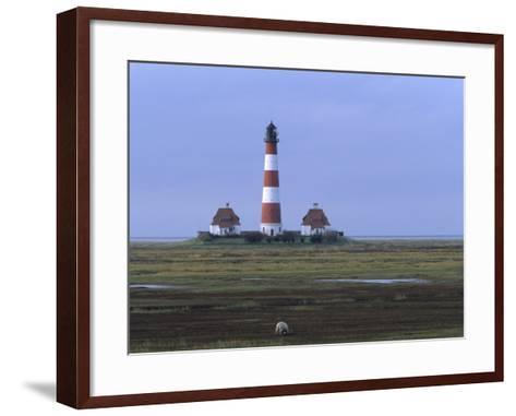 Lighthouse, Westerhever, Schleswig-Holstein, Germany-Thorsten Milse-Framed Art Print