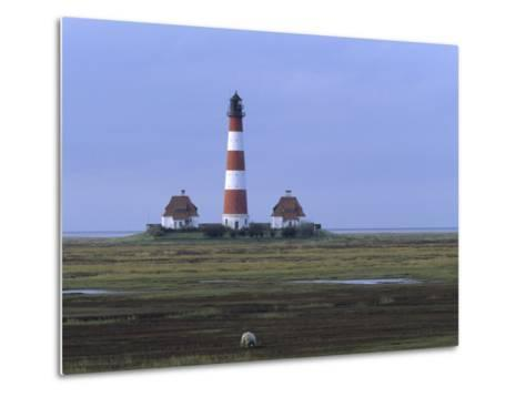Lighthouse, Westerhever, Schleswig-Holstein, Germany-Thorsten Milse-Metal Print