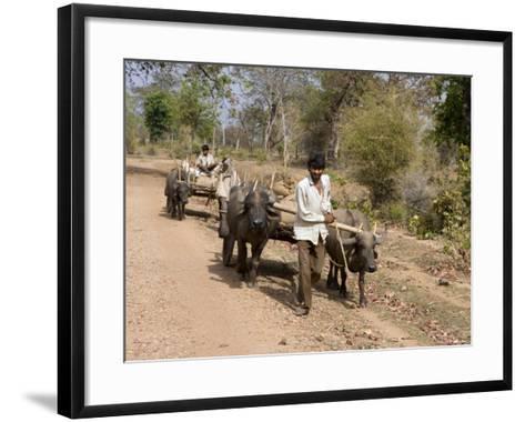 Bullock Carts, Tala, Bandhavgarh National Park, Madhya Pradesh, India-Thorsten Milse-Framed Art Print