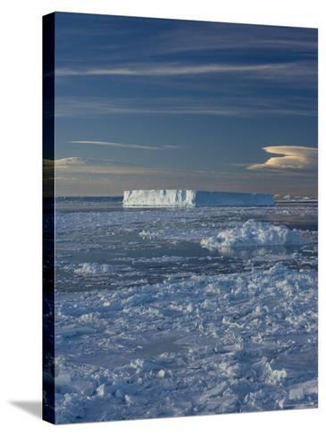Iceberg and Pack Ice, Weddell Sea, Antarctic Peninsula, Antarctica, Polar Regions-Thorsten Milse-Stretched Canvas Print