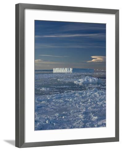 Iceberg and Pack Ice, Weddell Sea, Antarctic Peninsula, Antarctica, Polar Regions-Thorsten Milse-Framed Art Print