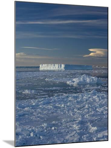Iceberg and Pack Ice, Weddell Sea, Antarctic Peninsula, Antarctica, Polar Regions-Thorsten Milse-Mounted Photographic Print