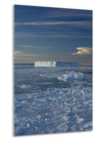 Iceberg and Pack Ice, Weddell Sea, Antarctic Peninsula, Antarctica, Polar Regions-Thorsten Milse-Metal Print
