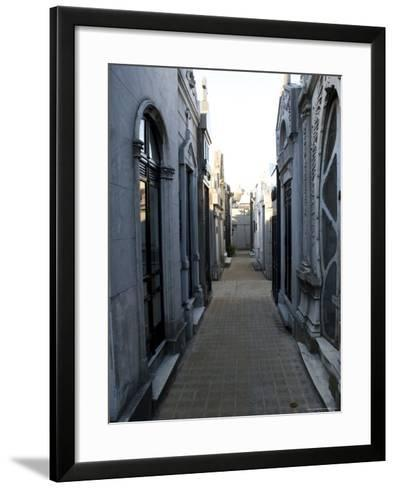 Cemetery, View Point, Buenos Aires, Argentina, South America-Thorsten Milse-Framed Art Print