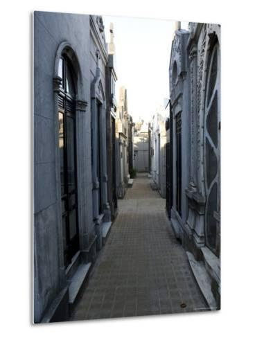 Cemetery, View Point, Buenos Aires, Argentina, South America-Thorsten Milse-Metal Print