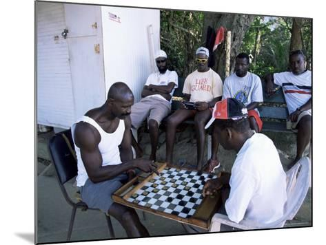 Fishermen Playing Checkers, Charlotteville, Tobago, West Indies, Caribbean, Central America-Yadid Levy-Mounted Photographic Print