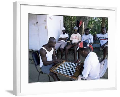 Fishermen Playing Checkers, Charlotteville, Tobago, West Indies, Caribbean, Central America-Yadid Levy-Framed Art Print