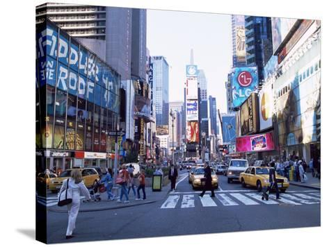 Times Square, New York, New York State, USA-Yadid Levy-Stretched Canvas Print