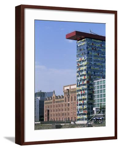 The Colorium Building by William Alsop at the Medienhafen, Dusseldorf, North Rhine Westphalia-Yadid Levy-Framed Art Print