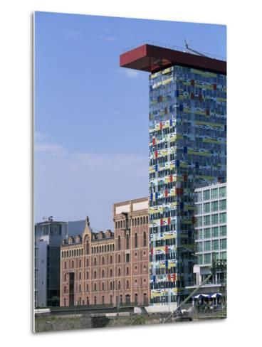 The Colorium Building by William Alsop at the Medienhafen, Dusseldorf, North Rhine Westphalia-Yadid Levy-Metal Print