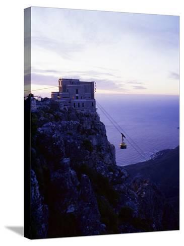 Cable Car Going up Table Mountain, Cape Town, South Africa, Africa-Yadid Levy-Stretched Canvas Print