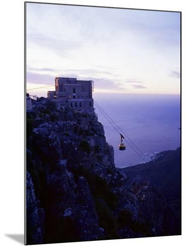 Cable Car Going up Table Mountain, Cape Town, South Africa, Africa-Yadid Levy-Mounted Photographic Print