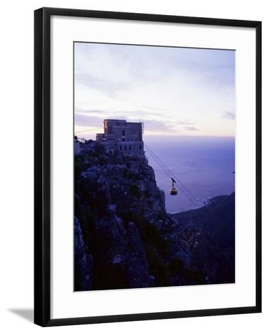 Cable Car Going up Table Mountain, Cape Town, South Africa, Africa-Yadid Levy-Framed Art Print