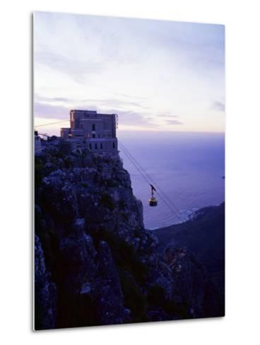 Cable Car Going up Table Mountain, Cape Town, South Africa, Africa-Yadid Levy-Metal Print