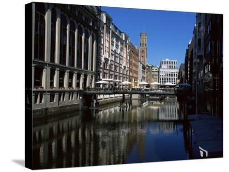 Canal in the Altstadt (Old Town), Hamburg, Germany-Yadid Levy-Stretched Canvas Print