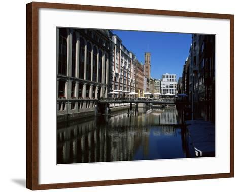 Canal in the Altstadt (Old Town), Hamburg, Germany-Yadid Levy-Framed Art Print