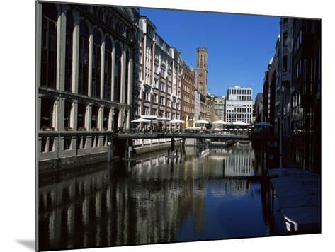 Canal in the Altstadt (Old Town), Hamburg, Germany-Yadid Levy-Mounted Photographic Print