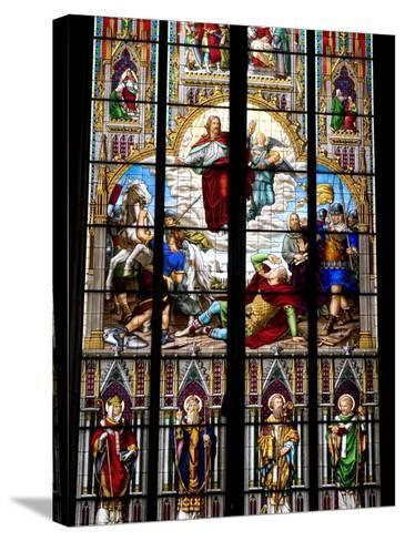 Stained Glass Windows in Cologne Cathedral, Cologne, North Rhine Westphalia, Germany-Yadid Levy-Stretched Canvas Print