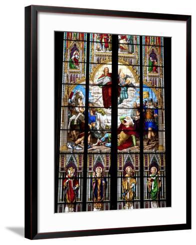 Stained Glass Windows in Cologne Cathedral, Cologne, North Rhine Westphalia, Germany-Yadid Levy-Framed Art Print