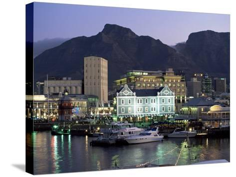 The Victoria and Alfred Waterfront, in the Evening, Cape Town, South Africa, Africa-Yadid Levy-Stretched Canvas Print