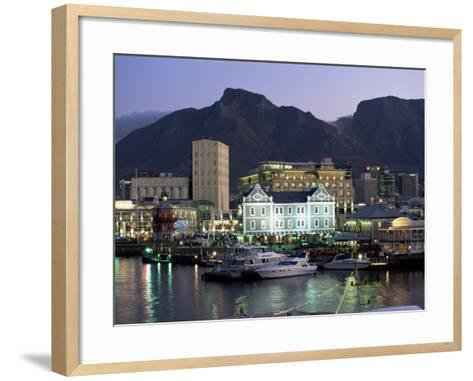 The Victoria and Alfred Waterfront, in the Evening, Cape Town, South Africa, Africa-Yadid Levy-Framed Art Print