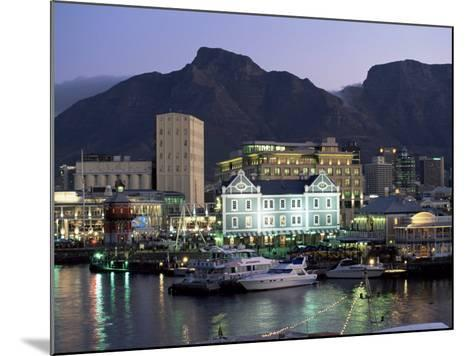 The Victoria and Alfred Waterfront, in the Evening, Cape Town, South Africa, Africa-Yadid Levy-Mounted Photographic Print