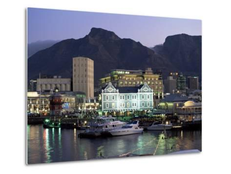 The Victoria and Alfred Waterfront, in the Evening, Cape Town, South Africa, Africa-Yadid Levy-Metal Print