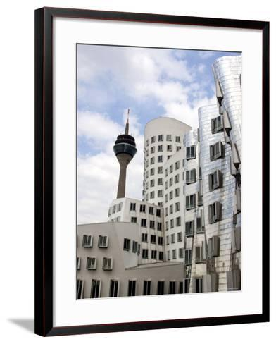 The Neuer Zollhof Building by Frank Gehry at the Medienhafen, Dusseldorf, North Rhine Westphalia-Yadid Levy-Framed Art Print