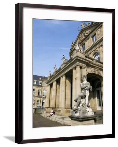 Neues Schloss and Schlossplatz (Palace Square), Stuttgart, Baden Wurttemberg, Germany-Yadid Levy-Framed Art Print