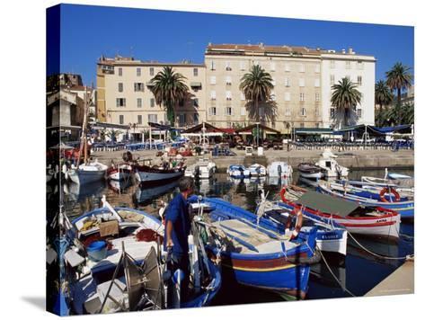 Ajaccio Harbour, Corsica, France, Mediterranean-Yadid Levy-Stretched Canvas Print