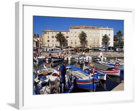 Ajaccio Harbour, Corsica, France, Mediterranean-Yadid Levy-Framed Art Print
