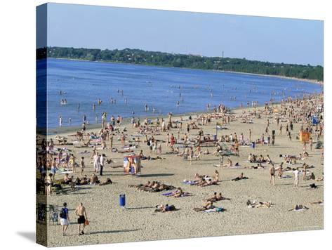 Pirita Beach, Estonia, Baltic States-Yadid Levy-Stretched Canvas Print