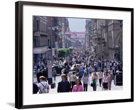 People Walking on Buchanan Street, Glasgow, Scotland, United Kingdom-Yadid Levy-Framed Art Print